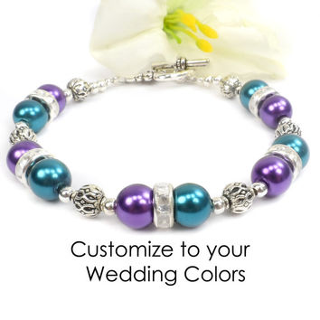 Custom Wedding - Prom Bracelet. Customize to your dress.