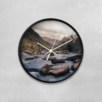 "Mountain River 10"" Wall Clock"