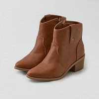 AEO SIDE ZIP WESTERN BOOTIE
