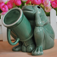 Thinking Frog Porcelain Coffee Mug