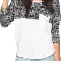 Empyre Corey Tribal Print Top