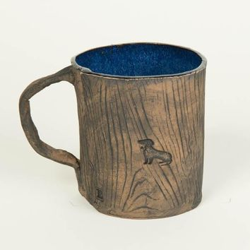 Ceramic Faux Wood Dachshund Mug