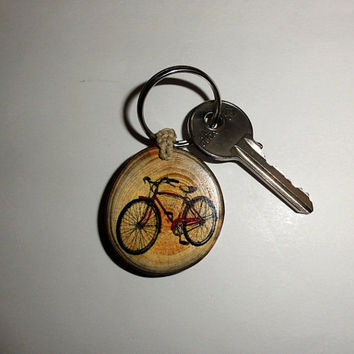 Retro Bicycle Style Keychain. Bike Keychain Bicycle Keyring. Personalized Keychain Key Fob Bicyclist Bike Biker Bicycle Keyring Bicycle Gift