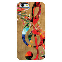 Clef Wooden Phone Case Phone