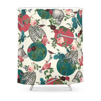 Society6 Romantic Halloween Shower Curtains