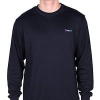 Longshanks Embroidered Crewneck Sweatshirt in Navy by Country Club Prep - FINAL SALE