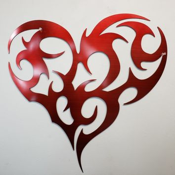 Tribal Heart Metal Art
