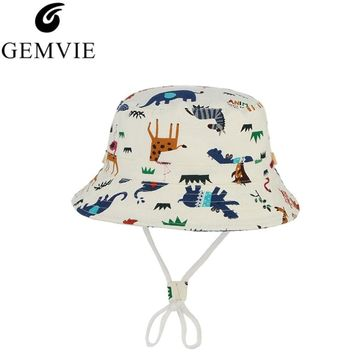 Cute Cartoon Animal Pattern Bucket Hat For Baby Kids Bob Caps Summer Beach Sun Cap Children Fishing Bucket Hat Hip Hop Gorros