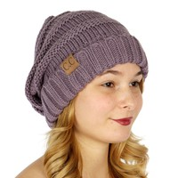 Cold Weather Hats Simple Oversized Slouchy Knit Hat