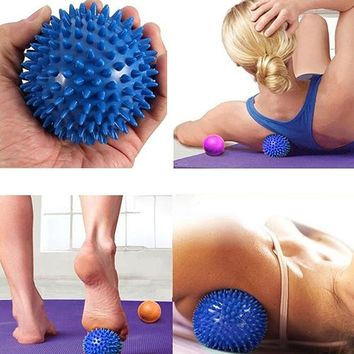 Durable PVC Spiky Massage Ball Trigger Point Sport Fitness Hand Foot Pain Relief Body Treatment Ball