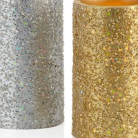 LED Glittered Pillar Candle | Harvest | Accessories | Decor | Z Gallerie