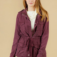 Altar'd State Stand-Out Utility Jacket - Romantic Rouge - Look Books