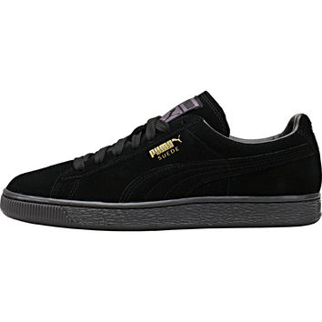 Puma Suede Mono Ice - Black/Team Gold