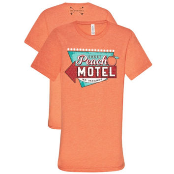 Southern Couture Lightheart Peach Motel Triblend Front Print T-Shirt