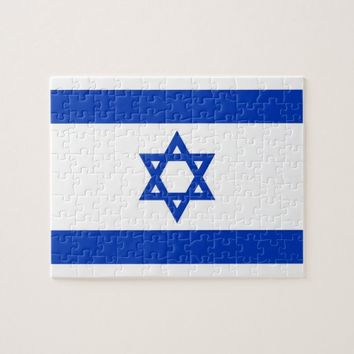 Puzzle with Flag of Israel