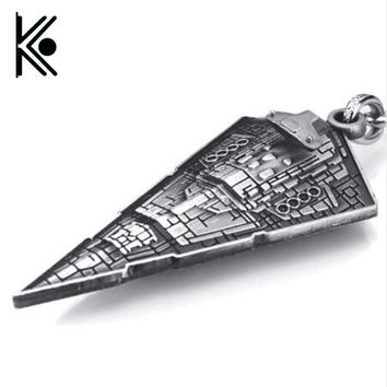 Movie Star Wars Star Destroyer Replica 3D Spaceship KeyRings Keychains Film Surrounding key chains holder for women men gift