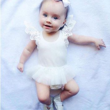 Angel Wings Tutu Dress Infant Bodysuit