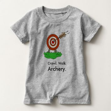 Crawl Walk Archery Baby Romper
