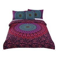 Mandala Bedding Set  Bohemian Print 4pcs Bed Set
