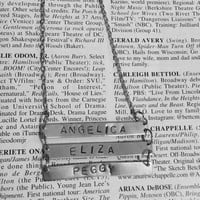 Hamilton Broadway Schuyler Sisters Triple Bar Necklace