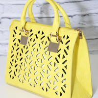 Daisy Mae Purse in Yellow