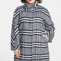Ellen Tracy Plaid Wool Blend Topper
