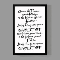 Taylor Swift Custom Poster - Shake It Off Lyrics - Quirky Modern Typographic Art - Quote Print
