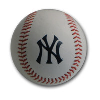 Blank Leather MLB Team Logo Baseballs - New York Yankees
