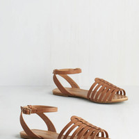 Whimsical Wanderlust Sandal in Camel by ModCloth