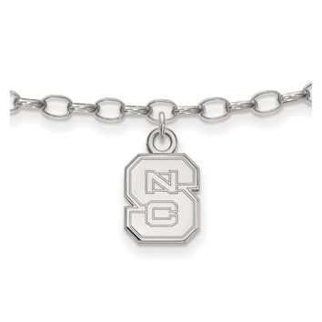 NCAA Sterling Silver North Carolina State University Anklet, 9 Inch