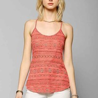 UO Printed Donna Racerback Tank Top-