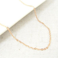 18 Inch Rose Gold Chain Necklace Small Link Jewelry Chain