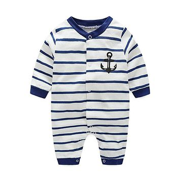 boys rompers new hot 100% cotton winter/spring/autumn/summer clothes infant/newborn clothing baby clothes