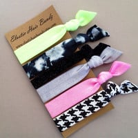 The Sasha Hair Tie-Ponytail Holder Collection - 5 Elastic Hair Ties by Elastic Hair Bandz on Etsy