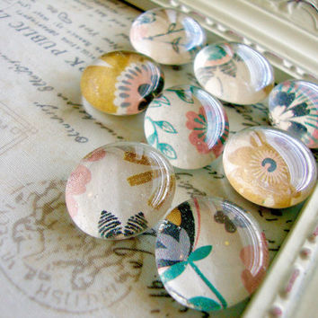 Floral Garden Magnets, Decorative Flowers, Vintage Magnets, Fridge Magnets, Office Decor, Magnet Board, Rare Earth, Neodymium, Dry Erase