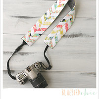 chevron camera strap cover - country chic