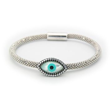 Braided Evil Eye Bracelet