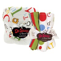 Dr. Seuss ''abc'' 6-pc. Hooded Towel & Wash Cloth Set by Trend Lab (White)