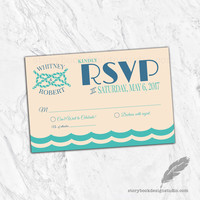 Nautical Paradise Wedding RSVP Cards