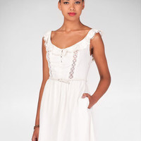 Dress with crochet detail -