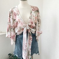 KIMBERLY TIE TOP- FLORAL