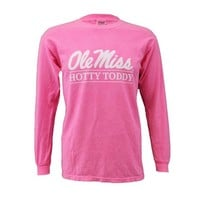 LONG SLEEVE AUTHENTIC PIGMENT OLE MISS TEE