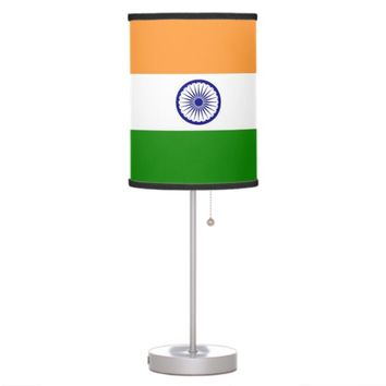 Patriotic table lamp with Flag of India