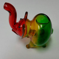 Rasta Elephant Pipe