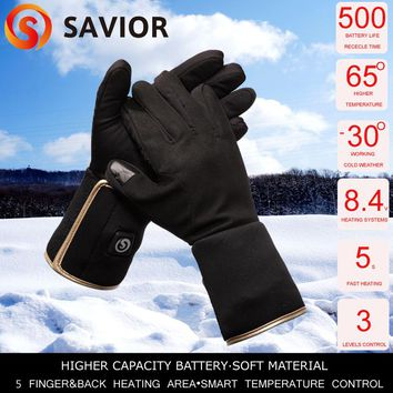 Savior heated glove liner for winter use riding biking fishing outdoor sports 3 levels control 3-6 hours heating SHGS05G Hot DHL
