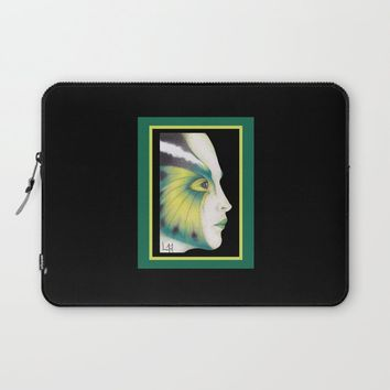 Butterfly Girl #3 Laptop Sleeve by drawingsbylam