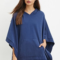 Hooded French Terry Poncho