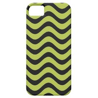 Acid Green And Black Waves Patterns iPhone 5 Cover from Zazzle.com