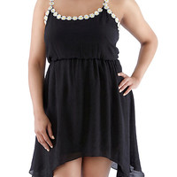 Plus-Size Daisy Cinched Dress - Rainbow