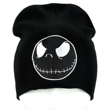 Jack Skellington in Black Beanie Knit Cap Nightmare Before Chirstmas